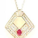 写真:プラチナ ダイヤモンド ルビー デザインネックレスの買取実績紹介!