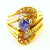 写真:ダイヤモンド サファイア リング 買取しました!