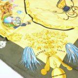 写真:エルメス カレ90 【Plumes et Grelots  羽飾りと鈴】シルク スカーフの買取実績紹介!